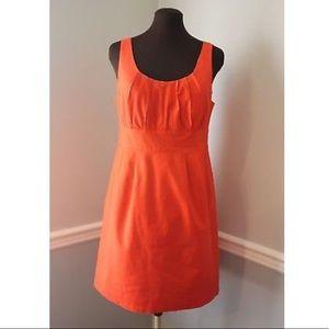 J. Crew Orange Suiting Cotton Sheath Dress Size 10
